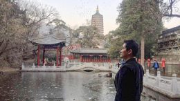 Jerry Wang, Chinese American entrepreneur,  traveling in Badachu Park in Beijing, China Nov. 20, 2017.
