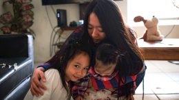 City Collegse student Shujuan Yang with her sisters. Yang has recently taken a more prominent role in the care of her sister. Jiaxin Lu | Staff Photographer | jlu.express@gmail.com