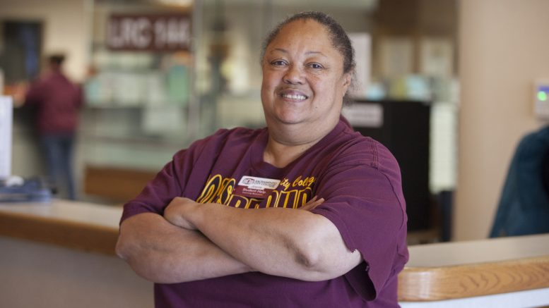 Joyce Ransom has been helping people on the first floor of the LRC at City College for nine years. Vanessa S. Nelson | vanessanelsonexpress@gmail.com