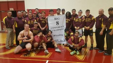 The Panther wrestling team traveled to Sierra College Wednesday night with the BIG 8 Conference title on the line and City was up for the challenge as they won 9 of 10 matches to win (by a score of 45-6) their 7th straight BIG 8 Conference Championship. Photo © 2017 Dianne Rose