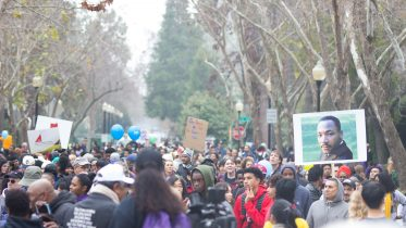 Thousands march on the Capitol in the 37th annual March for the Dream, celebrating MLK day on Jan. 15, 2018. | Photo by Bobby Castagna