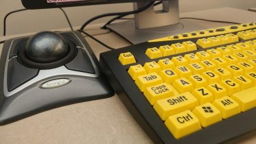 Track ball mice and special keyboards designed for students with ocular disabilities are a few of the pieces of equipment you can find in the Proctored Testing Center at City College Feb. 2. | Photo by Bobby Castagna | Photo Editor | robert.castagna@gmail.com